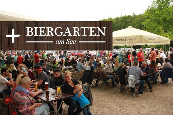 Großer Biergarten am See - Homburg Jägersburg