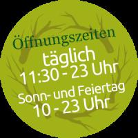 Öffnungszeiten - PETERS Alm mit großem Biergarten in Jägersburg